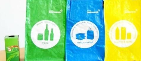 sacos de reciclagem