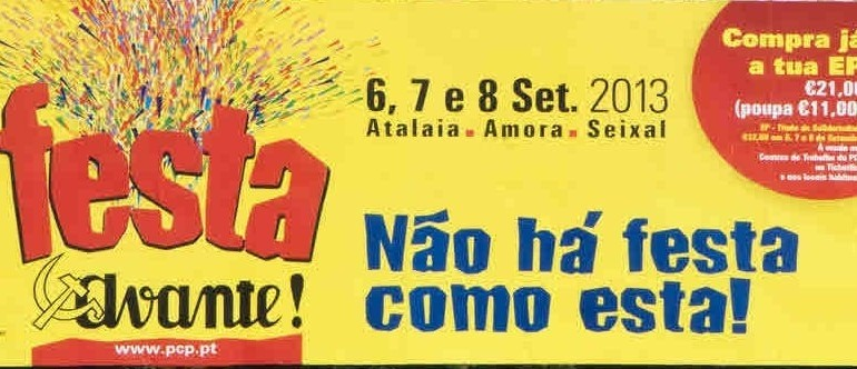 CARTAZ FESTA DO AVANTE 2013