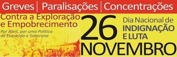 26 de Novembro dia de protesto da CGTP-IN