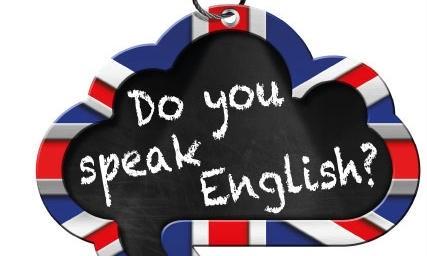 falar inglês