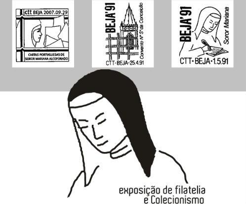 Exposição Filatelia Mariana Alcoforado Museu Beja