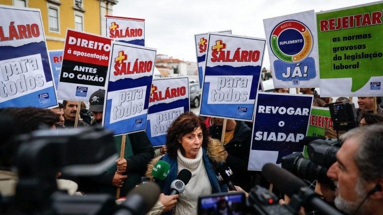 protesto frente comum