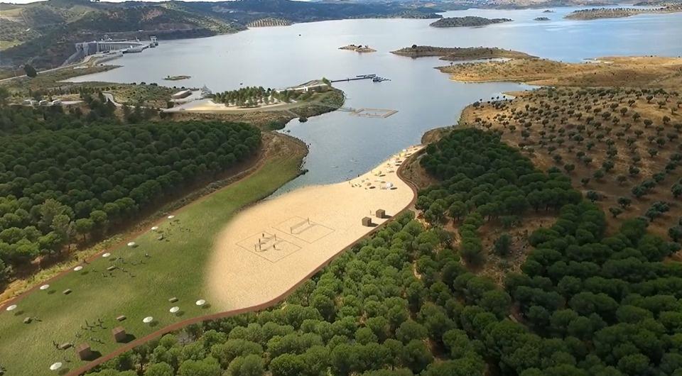 praia fluvial Moura