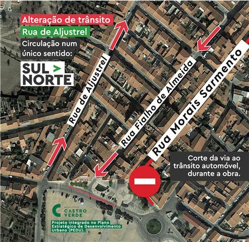 mapa rua castro verde