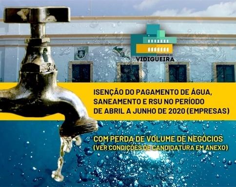 Isenção pagamento água a empresas