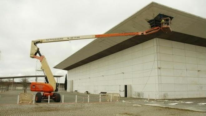 Obras de manutenção no Parque de Feiras e Exposições de Beja