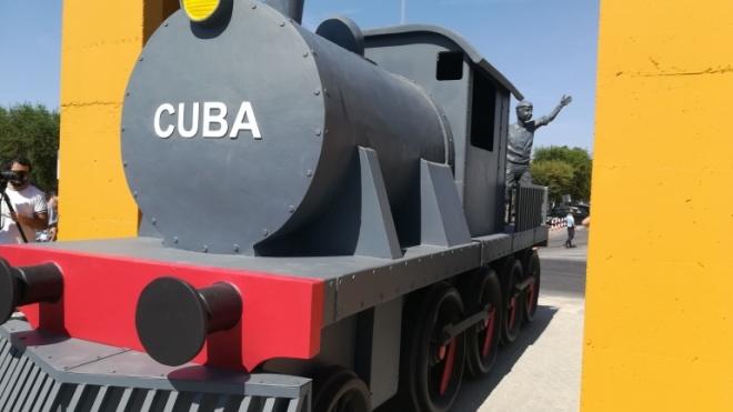 Inaugurado monumento ao comboio em Cuba