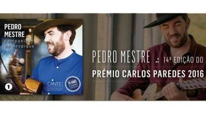 Pedro Mestre ganha  Prémio Carlos Paredes 2016