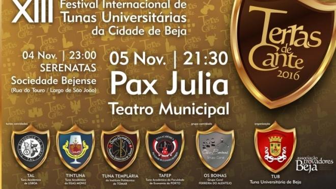 XIII Festival Internacional de Tunas Universitárias de Beja