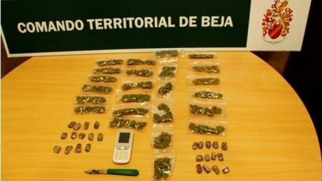 Detenção de individuo e apreensão de droga em Beja