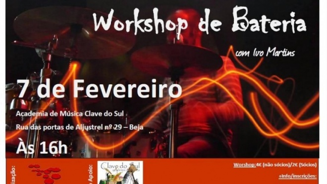 Beja recebe workshop de bateria