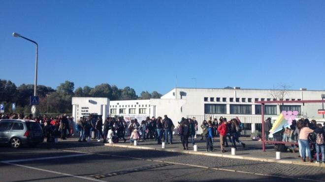 Estudantes da Santiago Maior em protesto