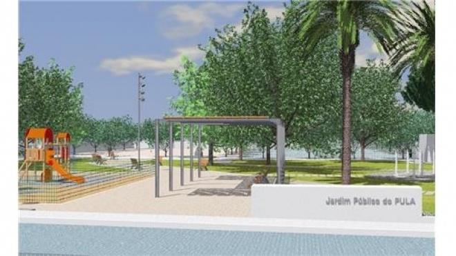 Obra do Jardim Público do PULA aprovada
