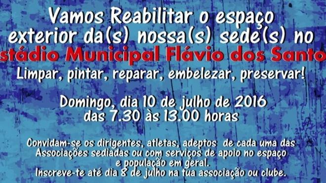 Jornada de trabalho para recuperação do Estádio Flávio dos Santos