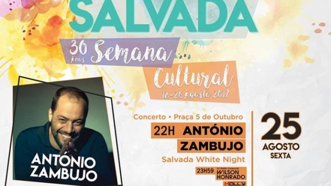António Zambujo cabeça de cartaz da Semana Cultural de Salvada