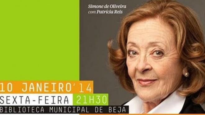 Simone de Oliveira na Biblioteca de Beja