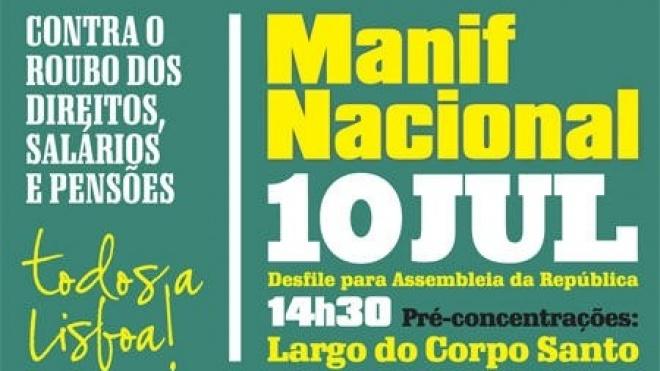 Lisboa recebe hoje manifestação da CGTP/IN