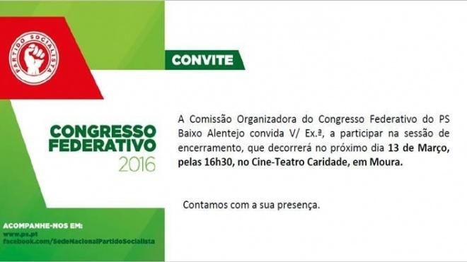 Congresso da FBA do PS em Moura