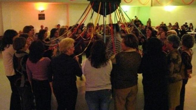 Baile da Pinha dos idosos em Nossa Senhora das Neves