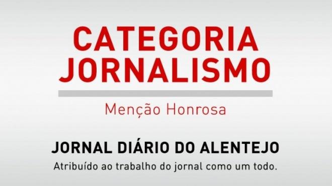 """""""Diário do Alentejo"""" galardoado pelo trabalho de conjunto"""