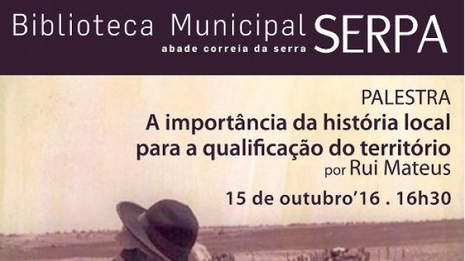 Biblioteca de Serpa recebe palestra