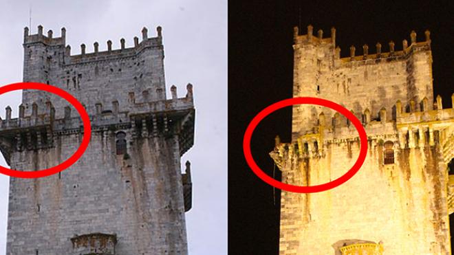 Ruiu parte  da varanda da Torre de Menagem