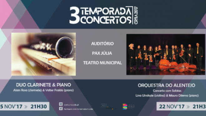 Duo Clarinete e Piano com concerto no Pax Julia