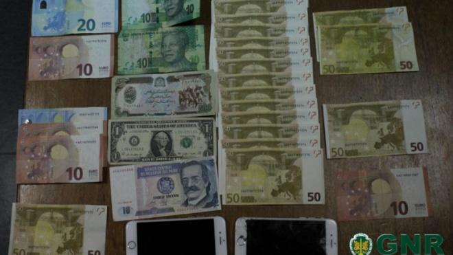GNR apreendeu 1300 euros em notas falsas