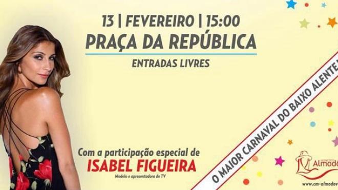 Isabel Figueira convidada do Carnaval de Almodôvar