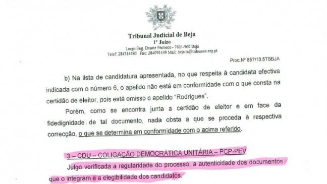 Tribunal de Beja considera, agora, inelegíveis João Rocha e Pulido Valente