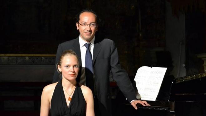 Concerto de violino e piano no Pax Julia
