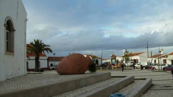 Arte pública em Casével como protesto contra extinção da freguesia