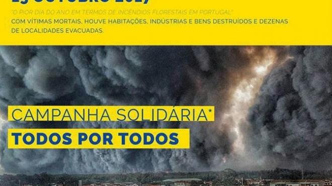 EMAS lança Campanha Solidária a favor das vítimas dos incêndios