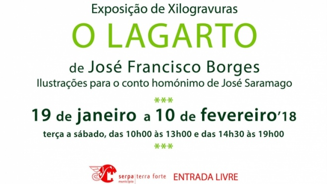 """Exposição de xilogravuras """"O Lagarto"""" em Serpa"""
