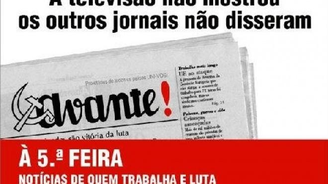 """Hoje há venda especial do jornal """"Avante!"""""""