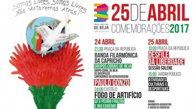 Comemorações da Revolução de Abril em Beja