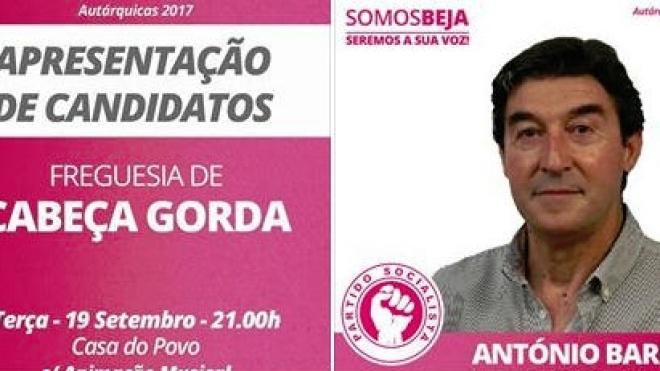 """""""PS/Somos Beja"""" apresenta candidatos em Cabeça Gorda"""