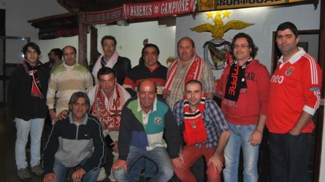 Benfiquistas comemoram em Beja