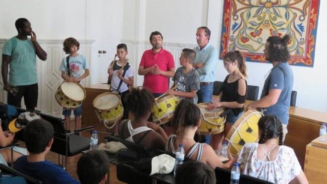 Serpa recebe um grupo de crianças e monitores de São Domingos de Rana