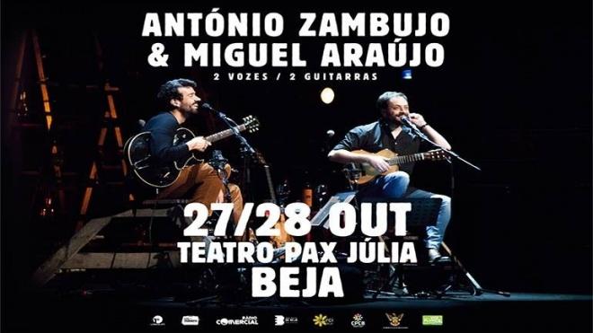 Abre hoje a venda para mais um concerto de António Zambujo e Miguel Araújo