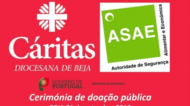 Cáritas de Beja recebe bens doados pela ASAE