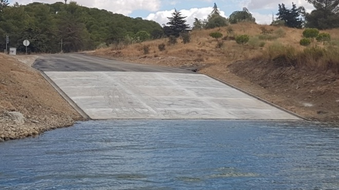 Barragem de Alqueva com nova rampa de acesso