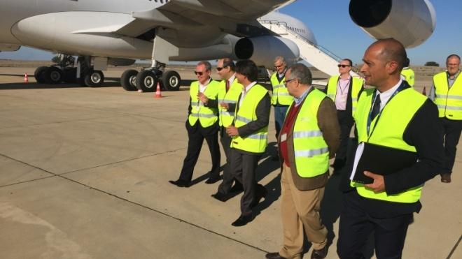 Presidente e Vice-Presidente da Câmara de Beja visitaram Aeroporto