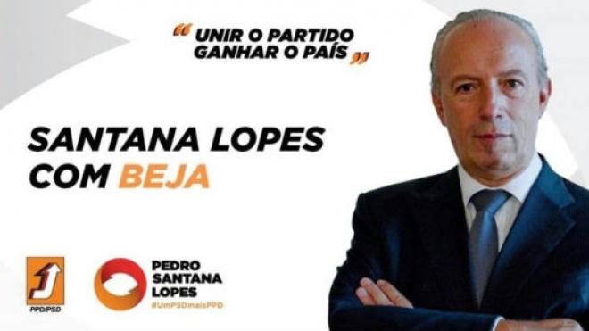 Pedro Santana Lopes está hoje em Beja