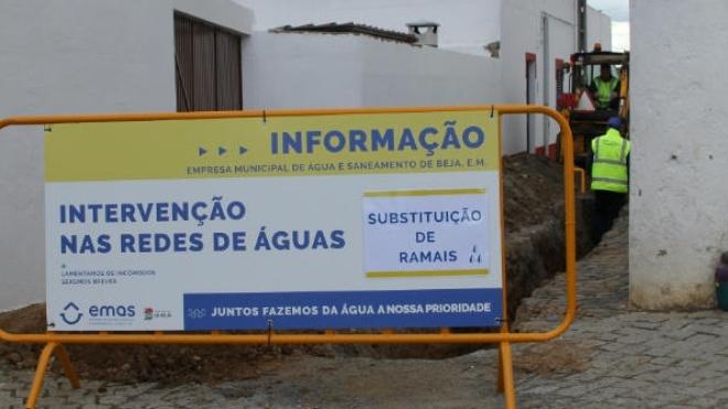 A EMAS de Beja está a intervir na rede de Porto Peles