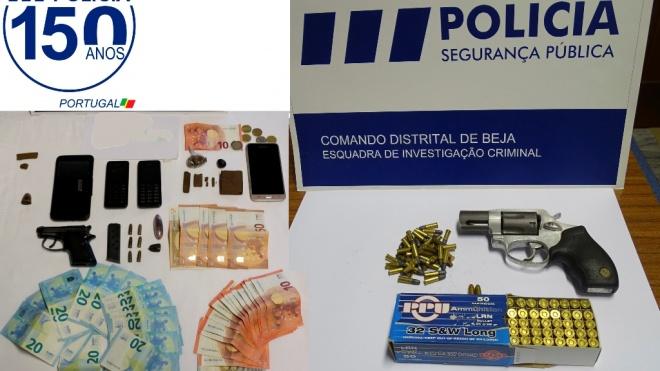 PSP de Beja deteve dois indivíduos por trafico de droga
