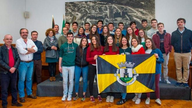 Câmara de Moura recebeu jovens atletas