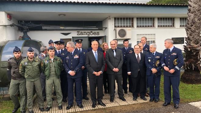 """Marcelo Rebelo de Sousa diz que na Base Aérea de Beja """"faz-se futuro"""""""