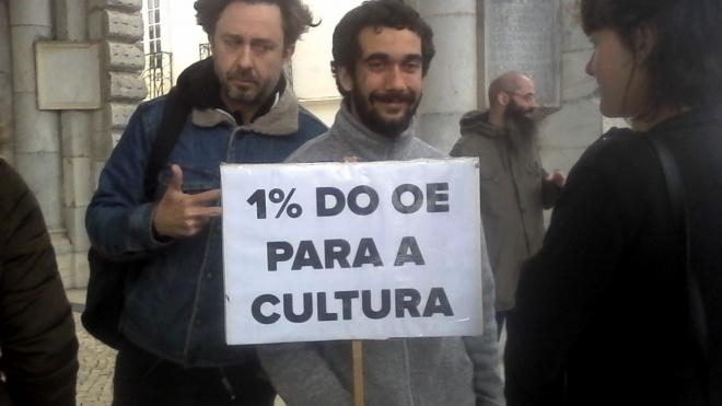 Concentração de Beja pela cultura com cerca de 50 pessoas