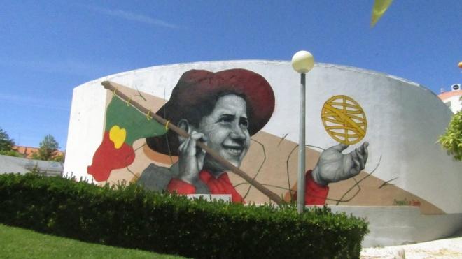 Mural da Federação Portuguesa de Futebol em Beja